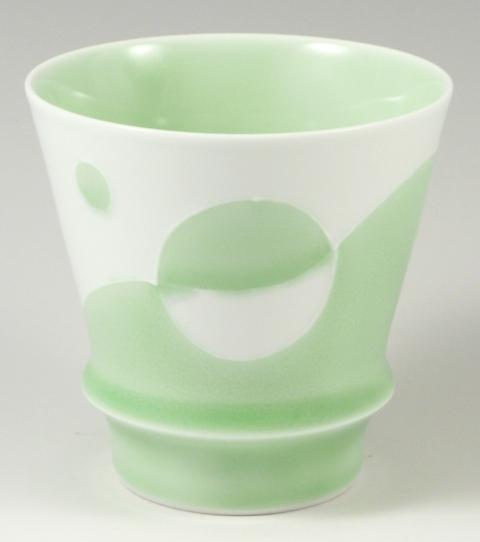 【匠の蔵 至高の焼酎グラス】 グリーンパンプキン<オリジナル>