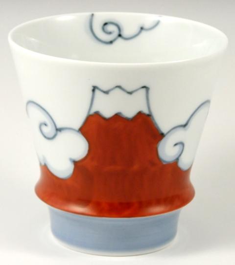【匠の蔵 至高の焼酎グラス】 赤富士(富士山)<オリジナル>