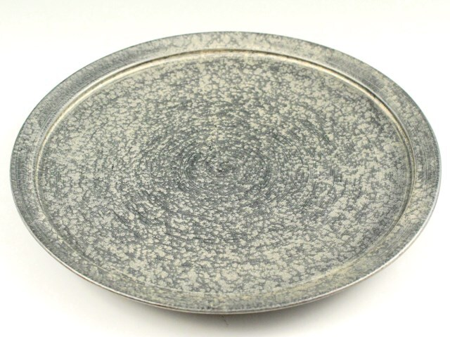 晶雲母銀 27cm平型プレート