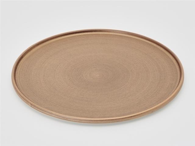 紫素雲母金 24cm渕付丸皿