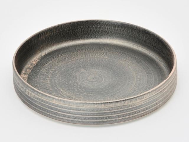 晶雲母銀 24cm深肉皿