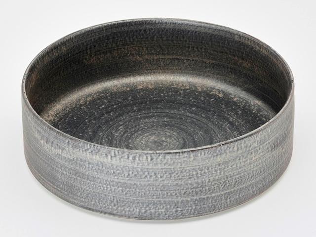 晶雲母銀 24cm深々肉皿