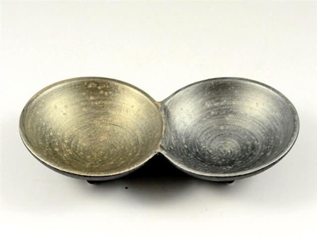 晶雲母金銀 二組小皿