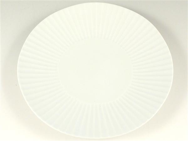 白磁  しのぎ特大皿【9寸皿 26cmプレート】