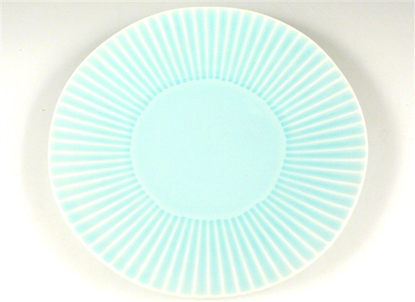 青磁 しのぎ特大皿【9寸皿 26cmプレート】