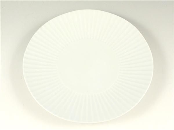 白磁 しのぎ大皿【7寸皿 21cmプレート】