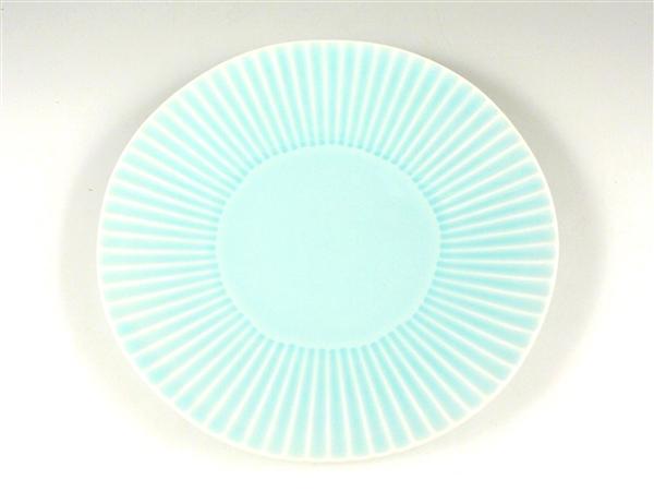 青磁しのぎ大皿【7寸皿 21cmプレート】