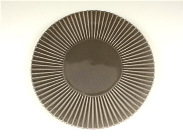 グレーしのぎ大皿【7寸皿 21cmプレート】