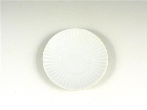 白磁 しのぎ小皿【3.5寸皿 11cmプレート】