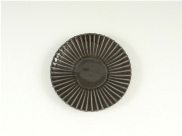 グレーしのぎ小皿【3.5寸皿 11cmプレート】