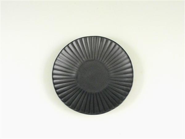 黒マットしのぎ小皿【3.5寸皿 11cmプレート】