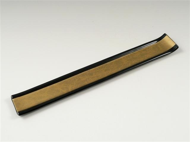 黒釉金彩貼り 箸のせ