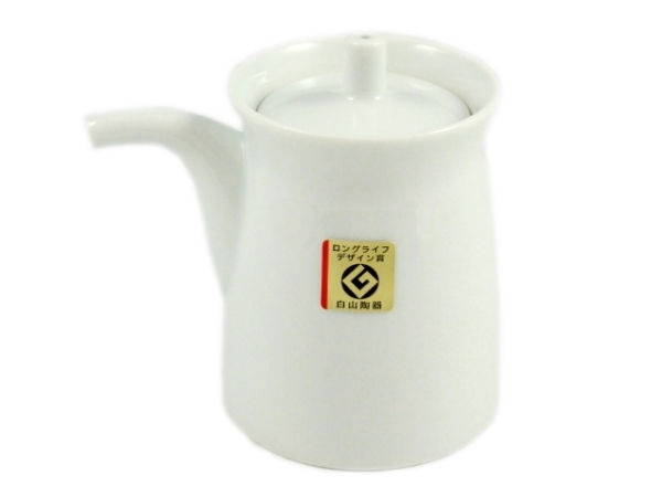 白山陶器(HAKUSAN) 白磁 G型しょうゆさし(大)
