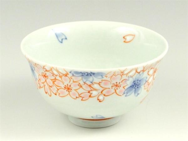 染錦渕桜 茶碗 小