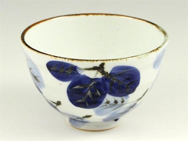 二色葉紋 茶碗 大