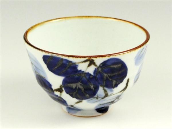 二色葉紋 茶碗 小