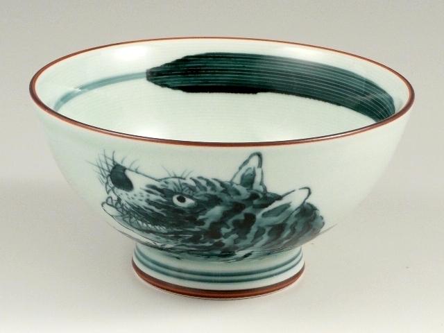 トラ絵 特大茶碗