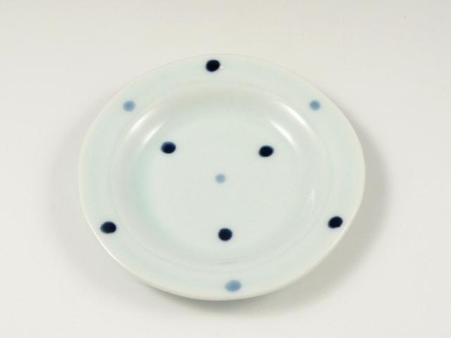 水玉リム付 4寸皿
