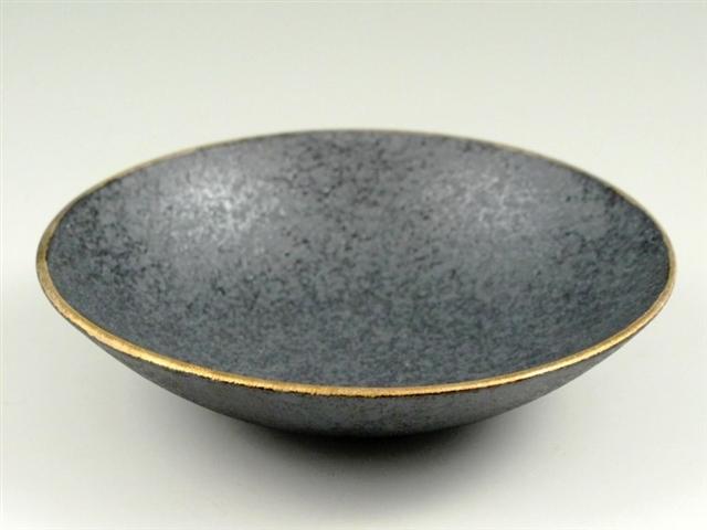 晶渕金 深5寸皿