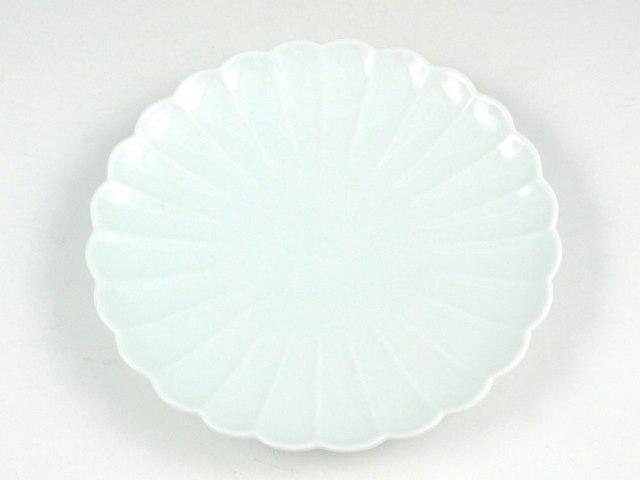 白磁 菊型5寸皿