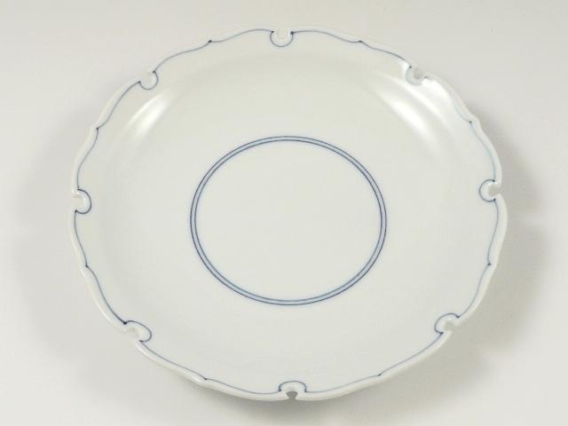 見込筋雪輪型 6寸皿