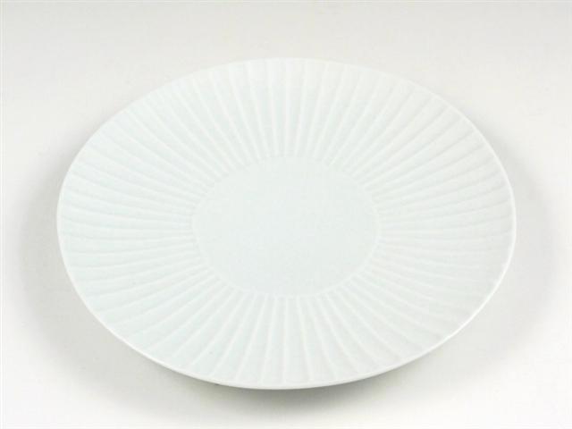 白磁しのぎ 中皿