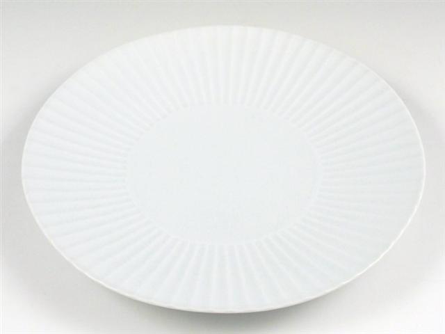 白磁しのぎ 7寸皿