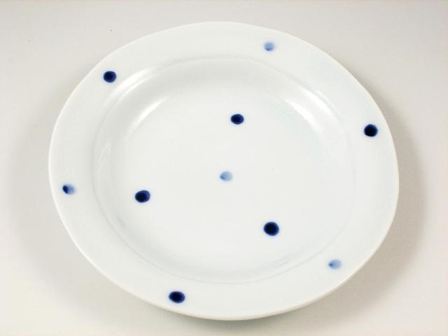 水玉リム付 5.5寸皿