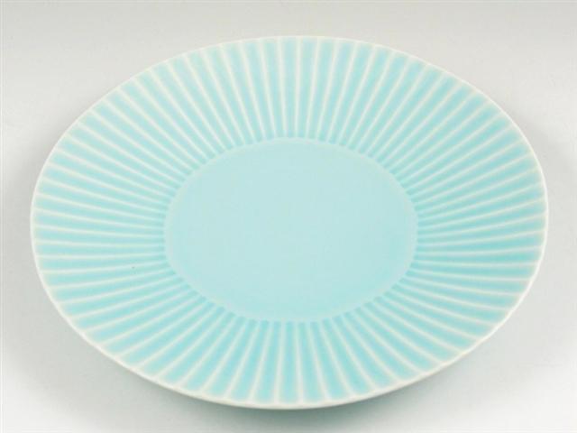 青磁しのぎ 7寸皿