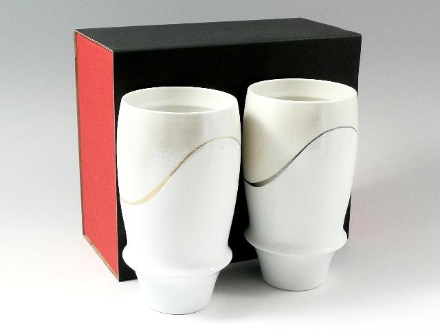 【有田焼 匠の蔵】 プロスト(金・プラチナ) ペアプレミアムビアグラス<オリジナル>