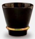 【匠の蔵 至高の焼酎グラス】 ハッピーリング(黒)