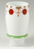 【匠の蔵 プレミアムビアグラス】 瓔珞紋(緑)<オリジナル>