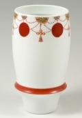 【匠の蔵 プレミアムビアグラス】 瓔珞紋(赤)<オリジナル>