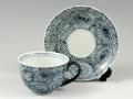 蛸唐草(青) コーヒーカップ&ソーサー