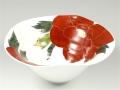 赤牡丹手なぶり 深菓子鉢