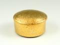 金濃黒釉掛分 楕円蓋物(ミニ)