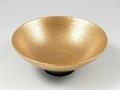 金濃黒釉掛分 平鉢