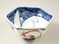古代赤絵うさぎ 六角鉢
