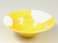 黄釉白抜 小鉢
