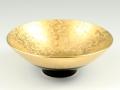金濃黒釉掛分 反小鉢