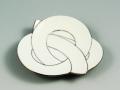白磁プラチナ線結び 小皿