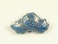 ルリ金 菊花型2手塩皿
