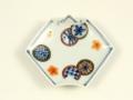 染錦丸紋 折紙型手塩皿
