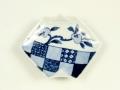 染付ざくろ紋 折紙型手塩皿