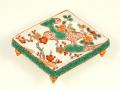 梅にウグイス 盤型手塩皿