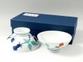 色鍋島バラ紋 組茶碗