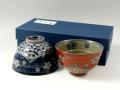 濃蛸唐草 組茶碗