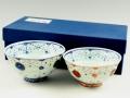 瓔珞紋手作り 組茶碗