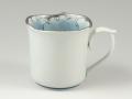 プラチナ牡丹輪花型 マグカップ