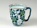 染錦鉄仙花(緑) マグカップ